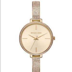 Michael Kors crystal bangle watch